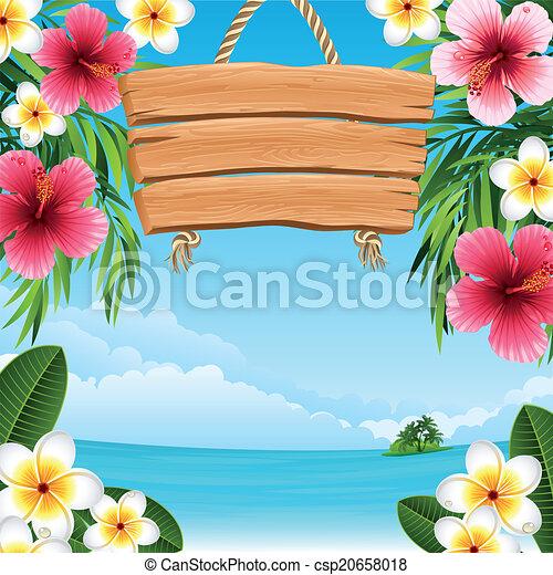 paisagem tropical - csp20658018