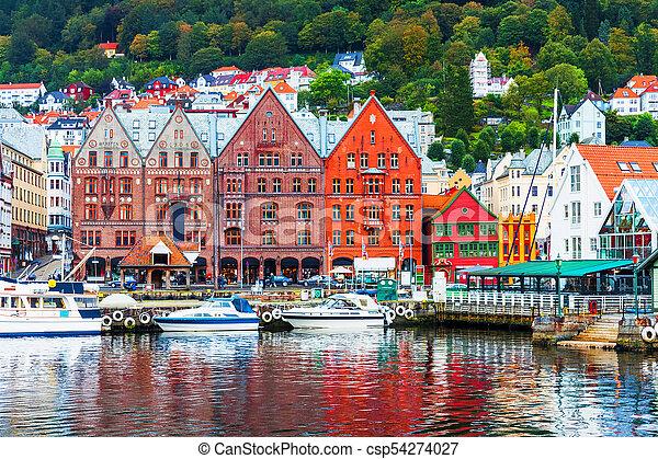 Escenario de Bergen, Norway - csp54274027