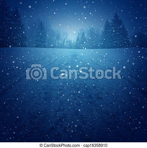 paisaje de invierno - csp16358910