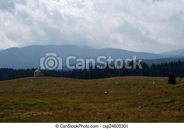 paisaje de montaña - csp24600301