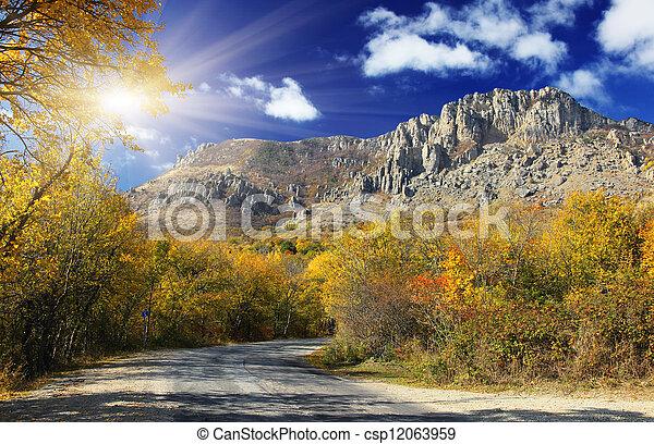 paisaje de montaña - csp12063959