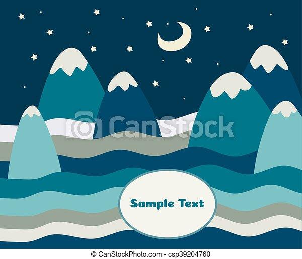 Un paisaje de montaña - csp39204760