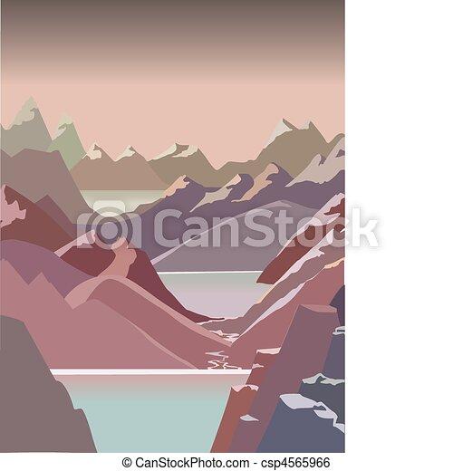Un paisaje de montaña - csp4565966