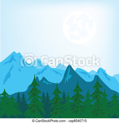 Un paisaje de montaña - csp8540715