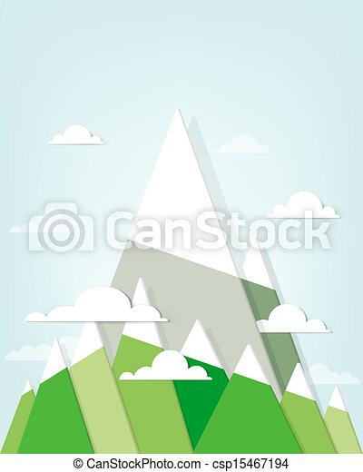 Un paisaje de montaña - csp15467194
