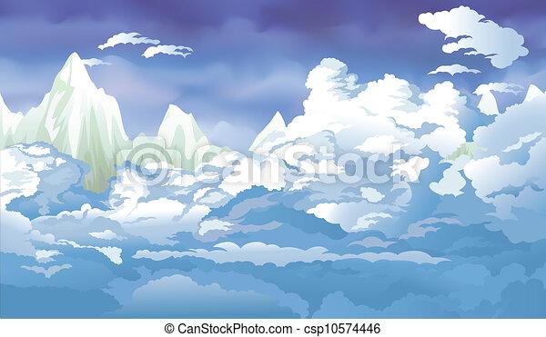 Un paisaje de montaña - csp10574446