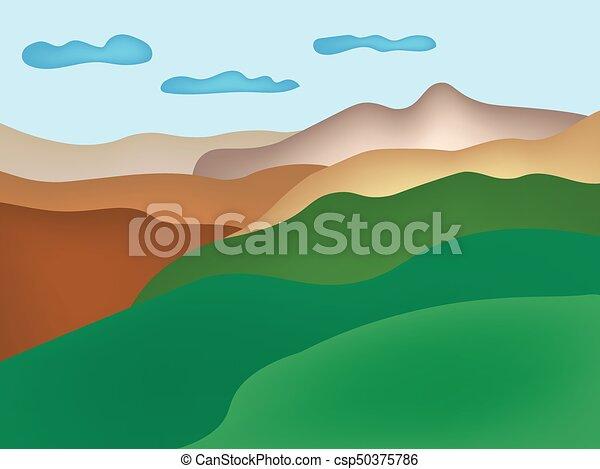 Un paisaje de montaña - csp50375786
