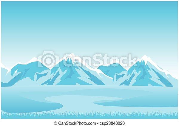 Un paisaje de montaña - csp23848020