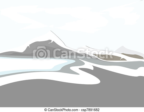 Un paisaje de montaña - csp7891682