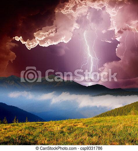 paisaje de montaña - csp9331786
