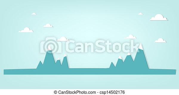 Un paisaje de montaña - csp14502176