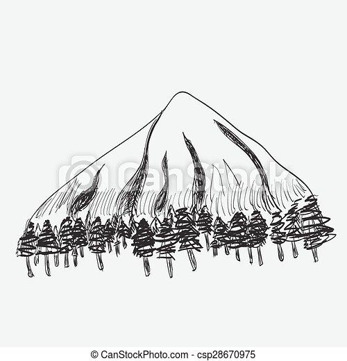 Un paisaje de montaña - csp28670975