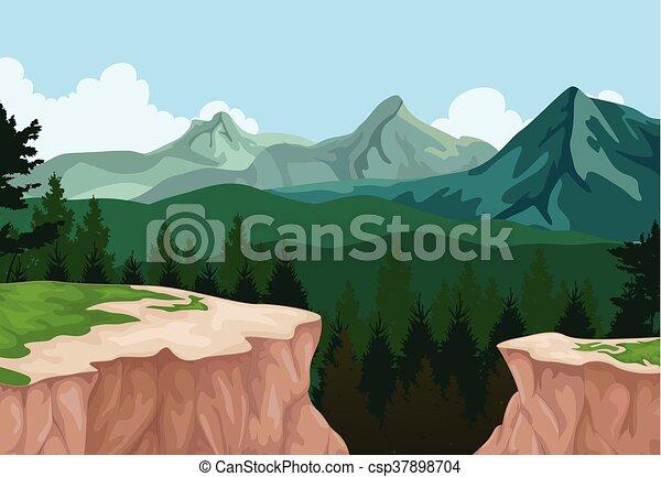 Trasfondo de paisajes de montaña - csp37898704