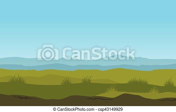 El paisaje de la naturaleza con fondo de montaña - csp43149929