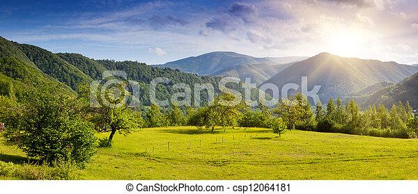 paisaje de montaña - csp12064181