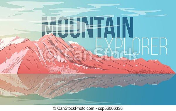 Landscape con montaña - csp56066338