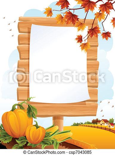Paisaje de otoño - csp7043085