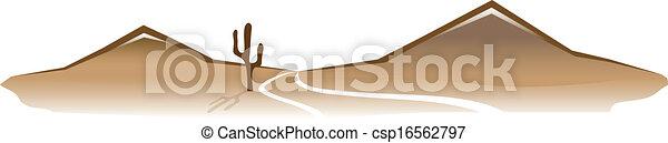Un paisaje desierto - csp16562797