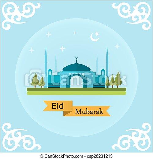 Eid mubarak paisaje - csp28231213