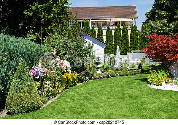 Paisaje flores dise o jard n pasto o c sped pasto o for Diseno jardines sin pasto