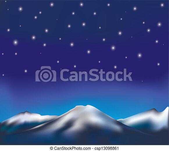 Paisaje nocturno - csp13098861