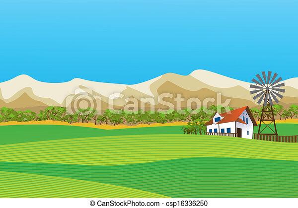 Un paisaje rural - csp16336250