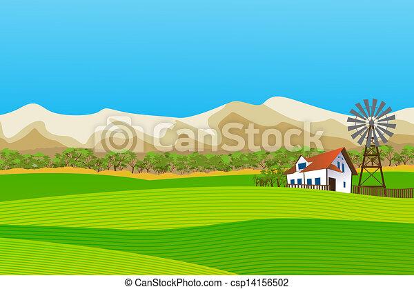 Un paisaje rural - csp14156502