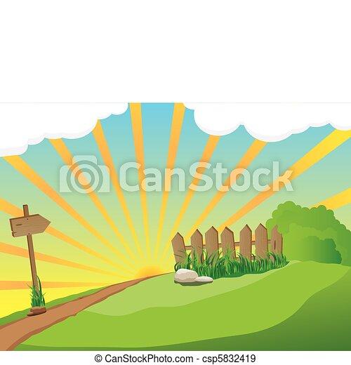 paisaje rural - csp5832419