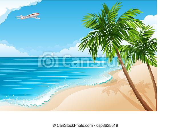 Un paisaje tropical - csp3625519