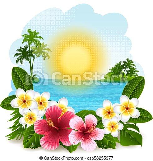 Un paisaje tropical - csp58255377
