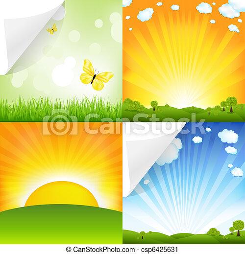 paisajes, colección - csp6425631