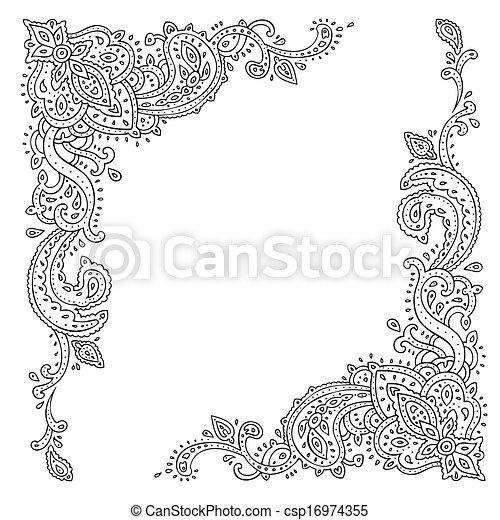 Paisley. Ethnic ornament. - csp16974355