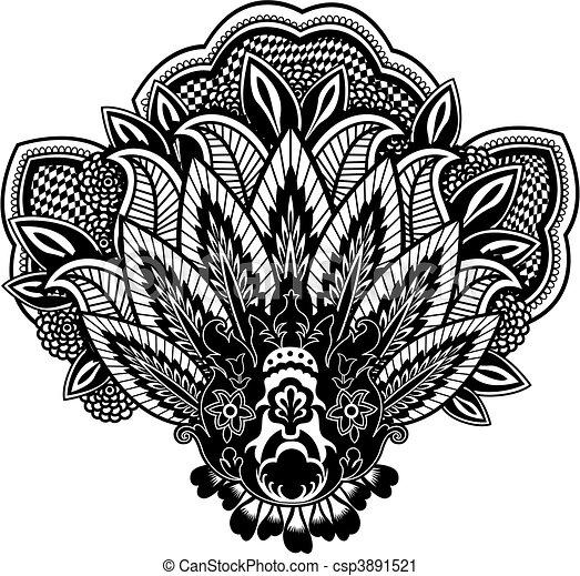 paisley illustration - csp3891521