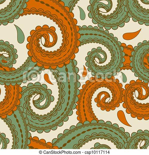 paisley, oriental, seamless, vecteur, fond, style - csp10117114