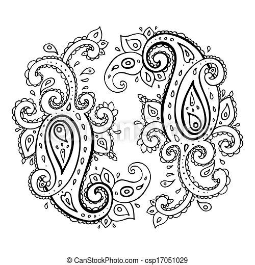Paisley. Ornamento étnico. - csp17051029