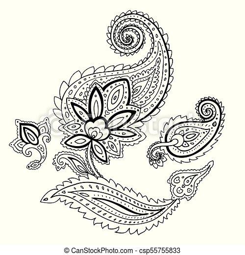 Paisley. Ornamento étnico. - csp55755833