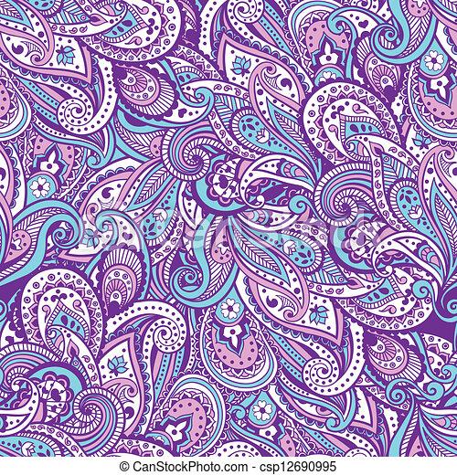 Paisley pattern - csp12690995