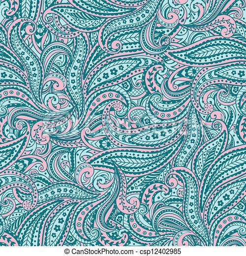 Paisley pattern - csp12402985