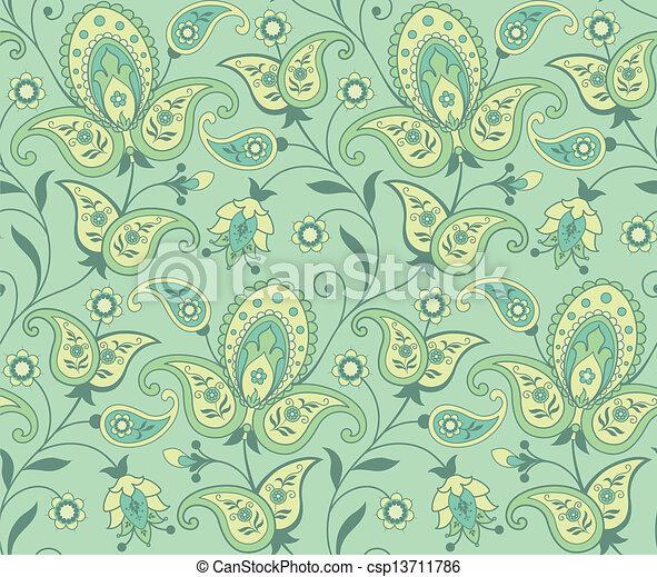Paisley seamless background - csp13711786