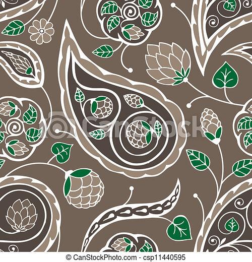 paisley seamless pattern - csp11440595
