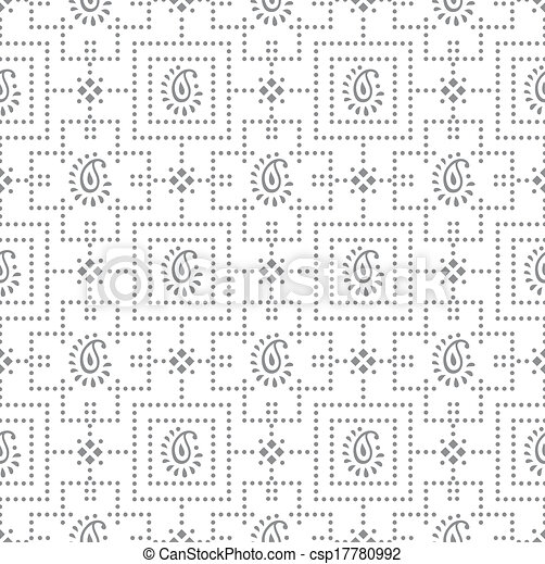 Paisley seamless pattern - csp17780992
