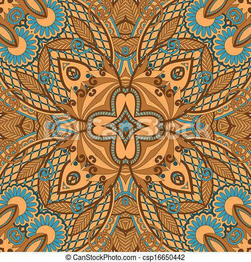 paisley seamless pattern  - csp16650442