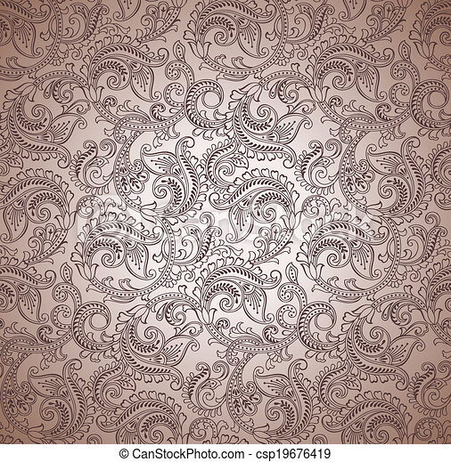Paisley seamless vector background - csp19676419