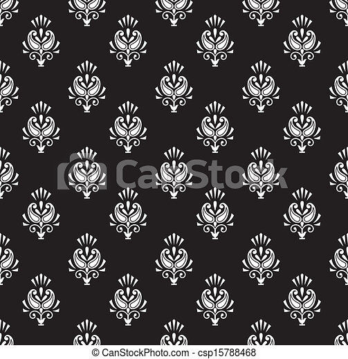 Paisley seamless vector wallpaper - csp15788468