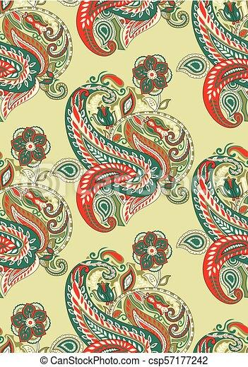 Paisley seamless vector wallpaper - csp57177242