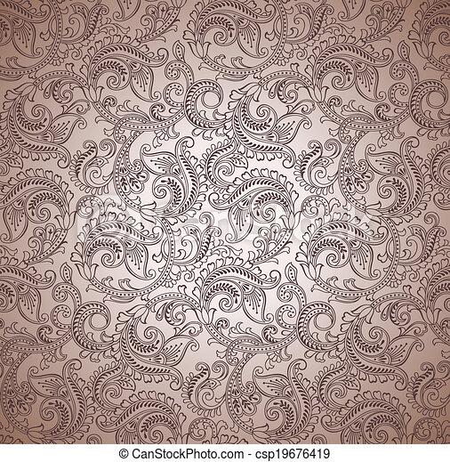 paisley, vecteur, seamless, fond - csp19676419