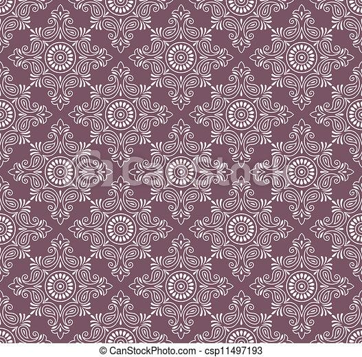 paisley, vecteur, seamless, fond - csp11497193