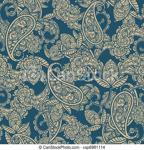 paisley, vecteur, seamless, fond - csp6981114