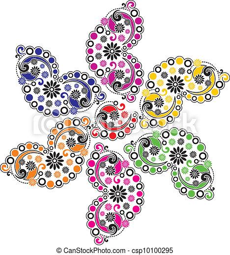 Paisley vector flower - csp10100295