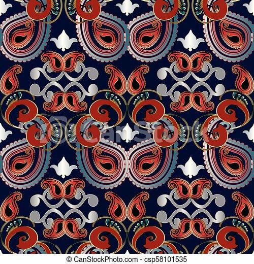 Paisleys Seamless Pattern